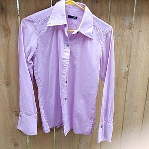 Purple long sleeve button down